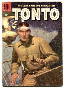 Tonto #24 1956- Dell Western- Lone Ranger's companion G
