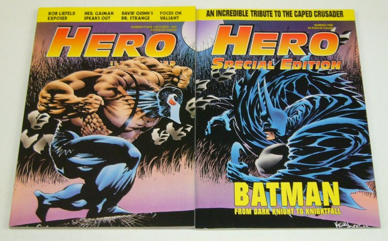 Hero Illustrated #4 + Special #1 VF/NM batman vs bane connecting covers set lot
