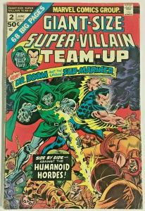 GIANT-SIZE SUPER-VILLAIN TEAM-UP#2 VG 1975 MARVEL BRONZE AGE COMICS