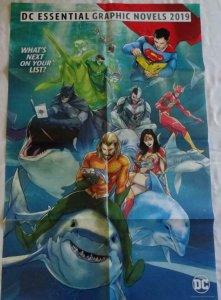 DC GRAPHIC NOVELS Promo Poster , 24 x 36, 2018, DC, BATMAN, GREEN LANTERN Unused