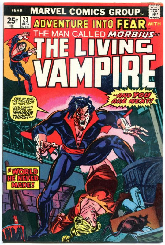 Adventure into FEAR #23, VF, Morbius, Vampire, Russell, 1970 1974, more in store