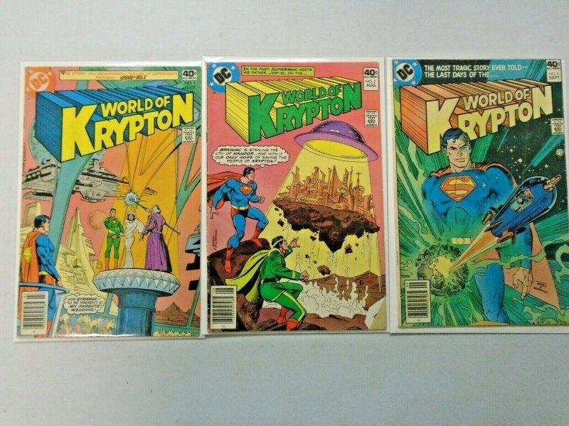 World of Krypton (1st Series) Set #1-3 6.0 FN (1979)