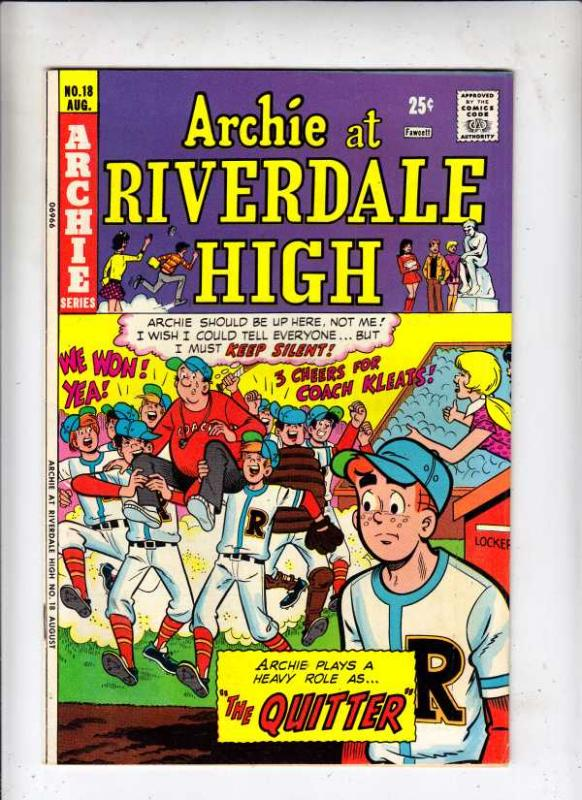 Archie At Riverdale High #18 (Aug-74) VG/FN Mid-Grade Archie