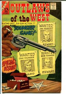 Outlaws Of The West #60 1966-Charlton-Younger Brothers Gang-Apache Kid-FN