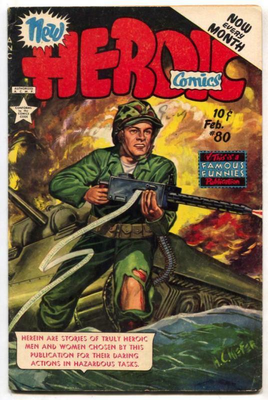 Heroic Comics #80 1953- Kiefer cover FN