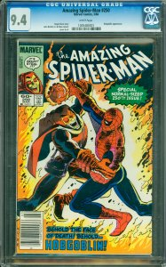 Amazing Spider-Man #250 CGC Graded 9.4 Hobgoblin appearance.