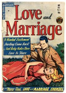 LOVE AND MARRIAGE #11-1953-SUPERIOR-LINGERIE SCENES-headlights