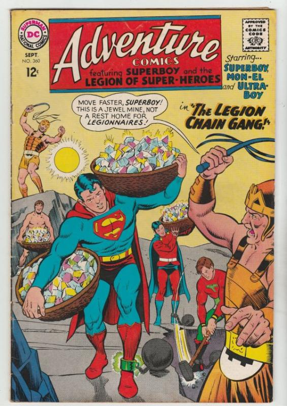 Adventure Comics #360 (Sep-67) VF- High-Grade Legion of Super-Heroes, Superboy