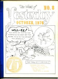 World of Yesterday #8 8/1976-Ken Maynard-Fanny Brice-Aesop's Fables Cartoons-VG