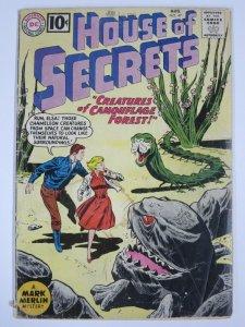 HOUSE OF SECRETS #47 (DC,8/1961) GOOD (G) tape on spine.