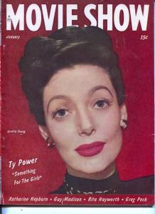 Movie Show-Loretta Young-Katherine Hepburn-James Mason-Jan-1947