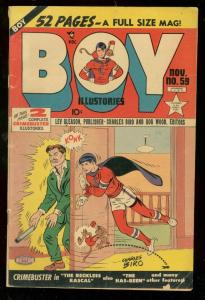 BOY COMICS #59 1950-CHARLES BIRO-CRIME COVER VG