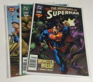 Adventures Of Superman 524 537 538 Nm- Near Mint- DC Comics