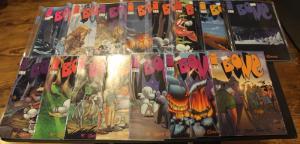 LARGE SET OF 15 Image Comics BONE #1-#9,#11,#14,#22-#25 VF/NM (SIC332)