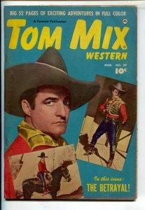 Tom Mix Western #39 1951-Fawcett-Tom on Tony photo cover-Carl Pfeufer story a...