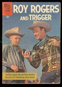 ROY ROGERS #141 1961-DELL WESTERN-PHOTO COVER-MANNING VG