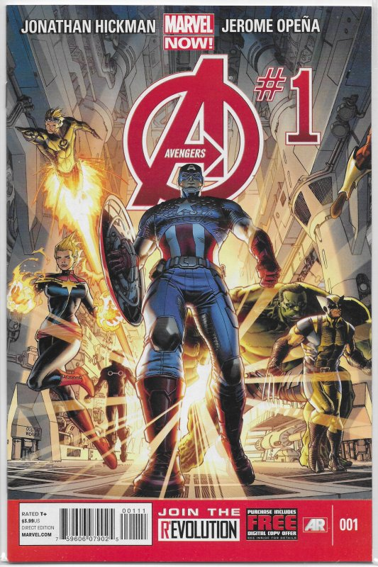 Avengers (vol. 5, 2013) #  1 NM (Marvel Now) Hickman/Opena, Captain America