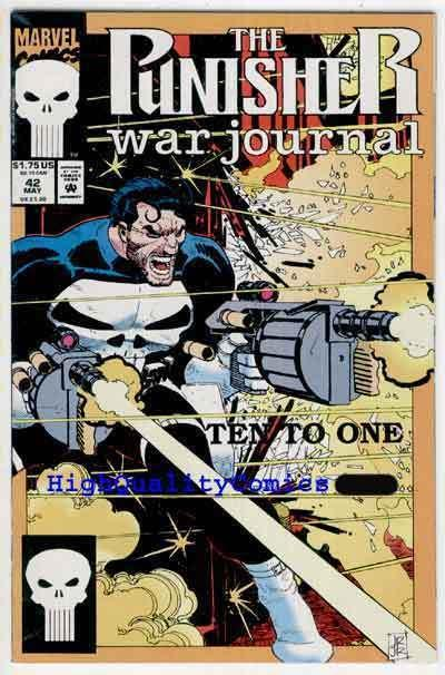 PUNISHER WAR JOURNAL #42, NM+, Chuck Dixon, John Romita, more Pun's in our store