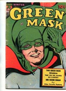 GREEN MASK #4-1945-SUPER HERO-THRILLS-WWII-vg minus