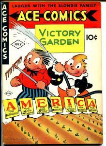 Ace #76 1943-McKay-Phantom-Prince Valiant-Hal Foster-Raymond-Blondie-WWII-VF