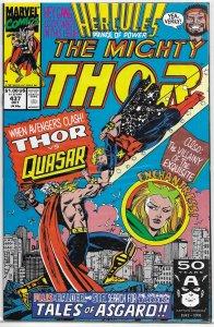 Thor   vol. 1   #437 FN Quasar, Enchantress, DeFalco/Frenz