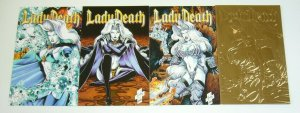 Lady Death III: the Odyssey #1-4 VF/NM complete series - chaos comics bad girl