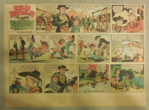 Red Ryder Sunday Page by Fred Harman from 1/6/1946 Half Page Size!