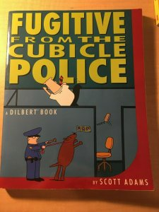 Fugitive from the Cubicle Police by Scott Adams Book Office Humor Parody MFT2