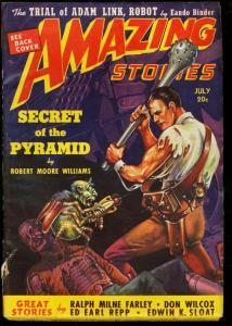 AMAZING STORIES 1939 JUL-PULP-SCI FI-WILD CVR-ZIFF-DAVI FN