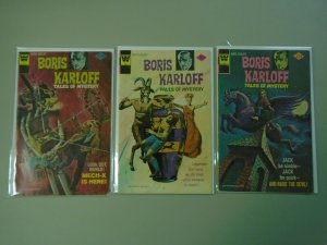 Boris Karloff Tales issues #59,63,66 4.0 VG (1975-76 Whitman)