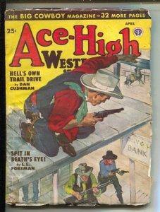 Ace-High Western-4/1948-Popular-Pulp fiction by Dan Cushman-Richard Brister-T...