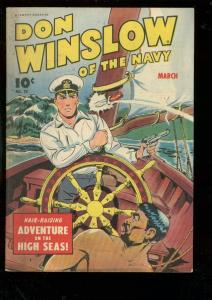 DON WINSLOW OF THE NAVY #24 1945-FAWCETT-HIGH SEAS-WW 2 FN