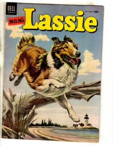 Lassie # 17 FN Dell Golden Age Comic Book Painted Cover Dog Collie TV Show JL18
