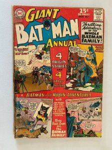 Batman Annual #7 1.5 FR GD cover detached & tape on spine (1964)