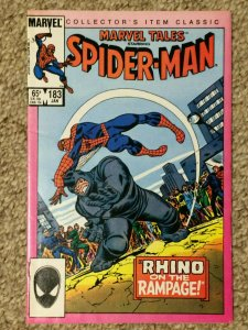 Marvel Tales #183 Spider-Man Rhino on the Rampage VF+ 1985 Collector's Item