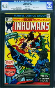 Inhumans #1 CGC 9.8 wp Black Bolt movie coming Marvel 0242814002