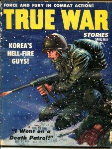 True War #2 4/1953-Lilly Christine-Death Patrol-machine gun-A-bomb-VG-