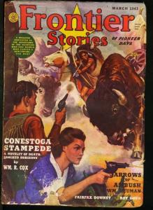 FRONTIER STORIES 1943 MAR-ACTION ADVENTURE PULP MAG VG