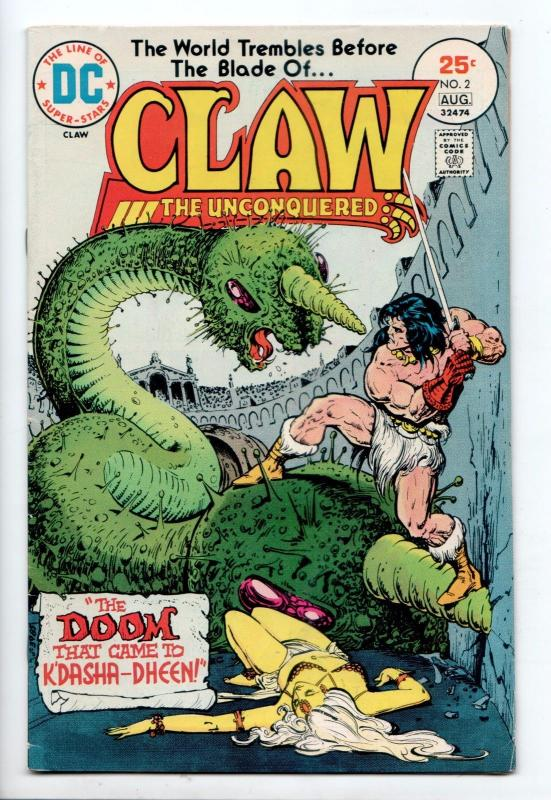 Claw the Unconquered #2 - The Doom That Came to K'Dasha-Dheen (DC, 1975) - FN/VF