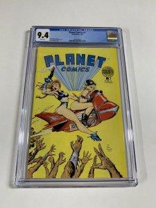 Planet Comics 1 Cgc 9.4 White Pages Dave Stevens Blackthorne Publishing