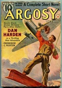 Argosy Pulp February 11 1939- Synthetic Men of Mars- Burroughs VG/F