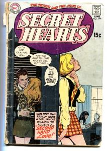 SECRET HEARTS #144 1970-DC ROMANCE-VG-SECOND HAND LOVE g