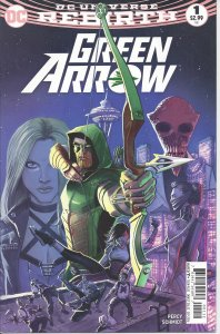 Green Arrow #1 (9-16) - DC Universe Rebirth - w/ Black Canary - vs Ninth Circle