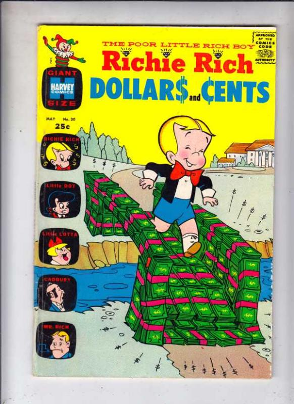 Richie Rich Dollars and Cents #30 (May-69) FN/VF Mid-High-Grade Richie Rich