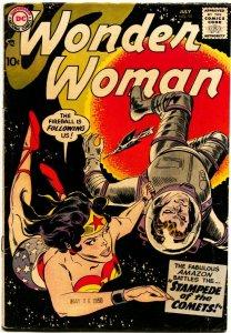 WONDER WOMAN #99-1959-ORIGIN DIANA PRINCE-SPACE TRAVEL COVER & STORY-DC