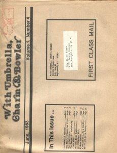 WITH UMBRELLA, CHARM & BOWLER-#4--1983--AVENGERS TV SERIES FANZINE-DIANA RIGG