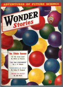 WONDER STORIES 1932 JUL-SCI FI PULP-FUTURISTIC-RETRO FN