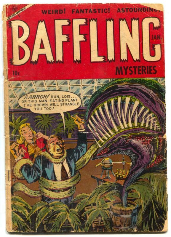 Baffling Mysteries #19 1954-Golden Age horror- man eating plant! G