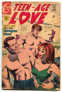 Teen-Age Love #59 1968-CHARLTON-Surf board cover- Surfing G