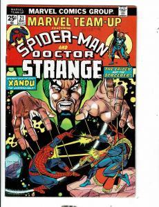 8 Marvel Team-Up Comic Books # 21 59 88 90 94 98 108 (2) Spider-Man Hulk JL12